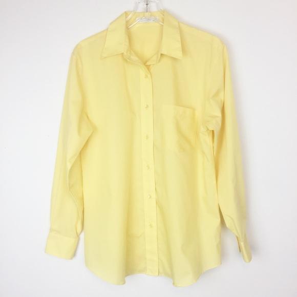 4e2add58 Foxcroft Tops | Size 10 Yellow Shirt Button Wrinkle Free | Poshmark